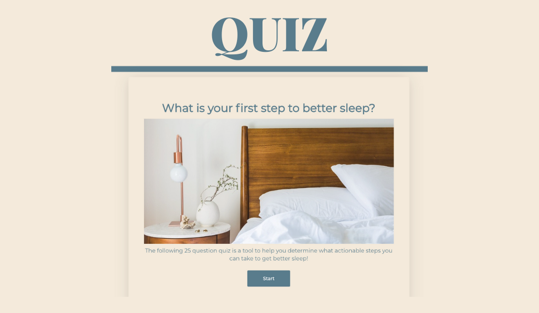 Your First Step To Better Sleep